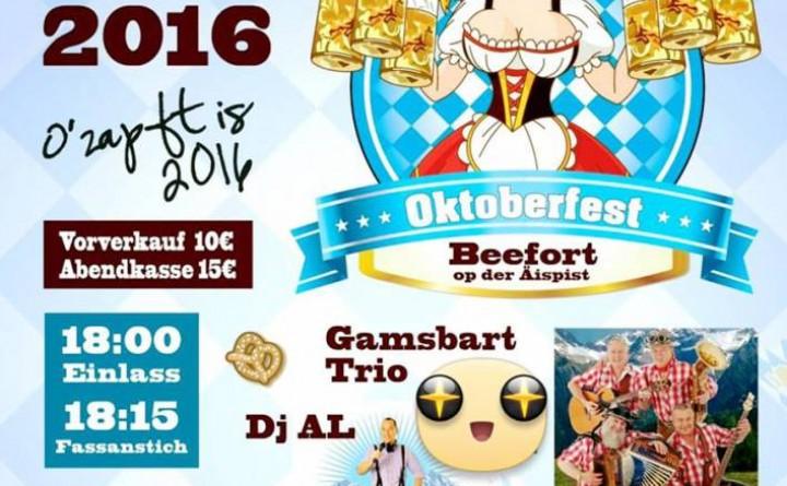 3. Oktoberfest Beefort O'Zapft is 2016 - 17/09/2016 - ORT Mullerthal